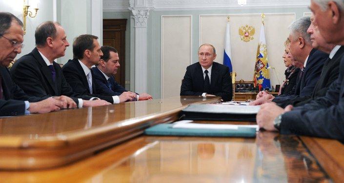President Vladimir Putin holds Russian Security Council meeting