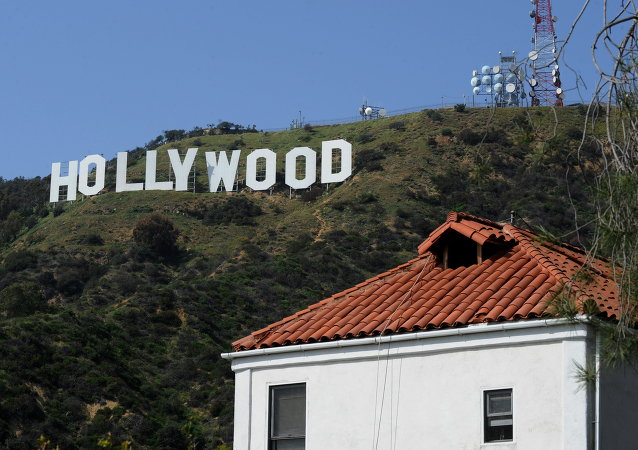 This photo taken on March 24, 2010 shows the iconic Hollywood sign in the hills above Hollywood