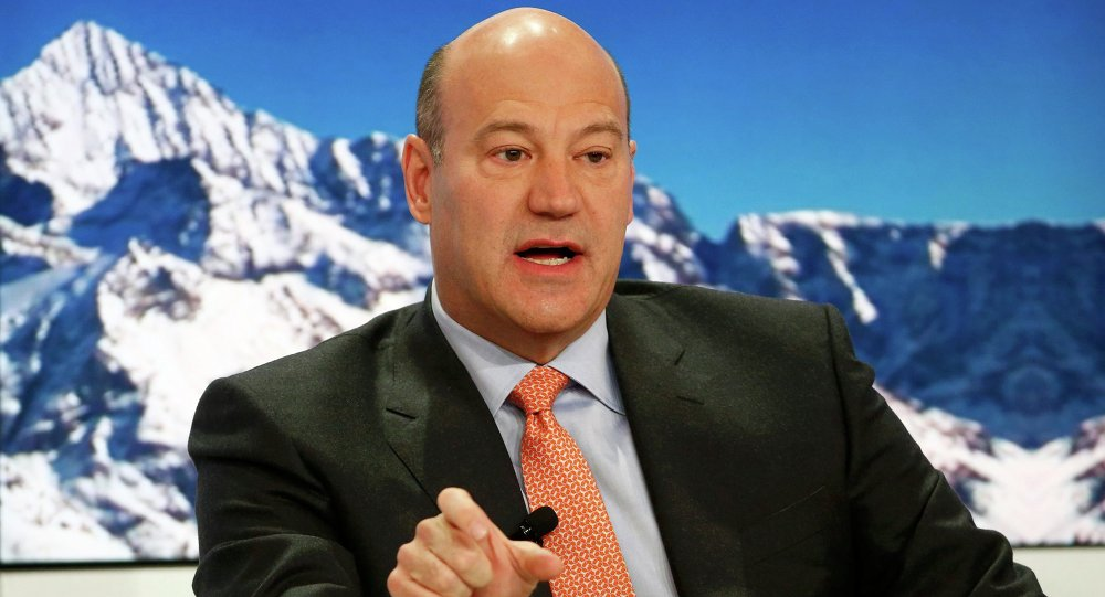 Gary Cohn, President and Chief Operating Officer of Goldman Sachs, speaks at the Ending the Experiment event in the Swiss mountain resort of Davos January 22, 2015
