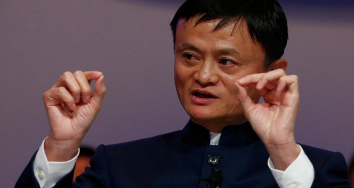Jack Ma, Founder and Executive Chairman of Alibaba Group, speaks during the session 'An Insight, An Idea with Jack Ma' in the Swiss mountain resort of Davos January 23, 2015