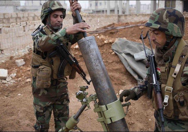 Peshmerga (Iraqi kurd) fighters  in Kobani, Syrian Kurdistan