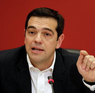 Alexis Tsipras, head of Greece's Syriza left-wing main opposition party