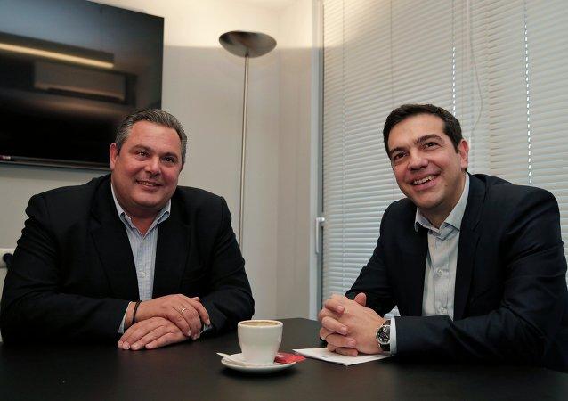 Alexis Tsipras and Panos Kammenos