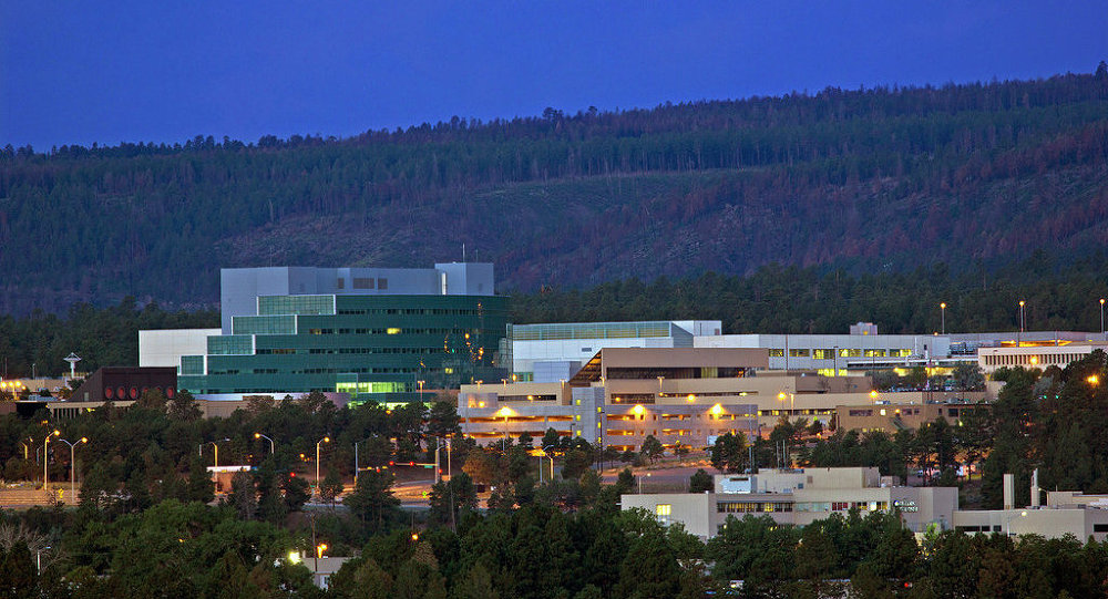 The secretive US Los Alamos National Laboratory, the cradle of the American nuclear weapons program.