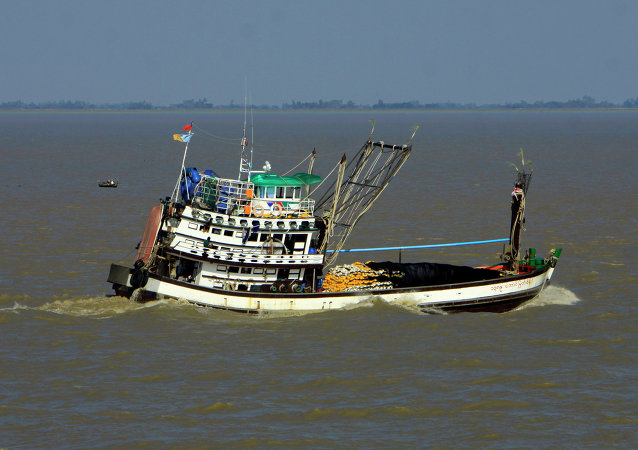 A Myanmar fishing boat