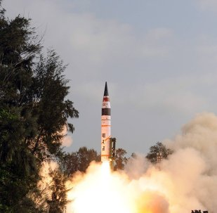 An Agni-V intercontinental ballistic missile