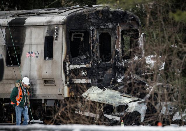 Freign train accident
