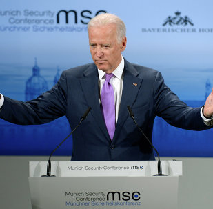 US Vice President Joe Biden speaks during the second day of the 51st Munich Security Conference (MSC) in Munich, southern Germany