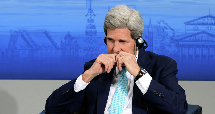 US Secretary of State John Kerry attends a panel discussion on stage during the third day of the 51st Munich Security Conference (MSC) in Munich, southern Germany, on February 8, 2015
