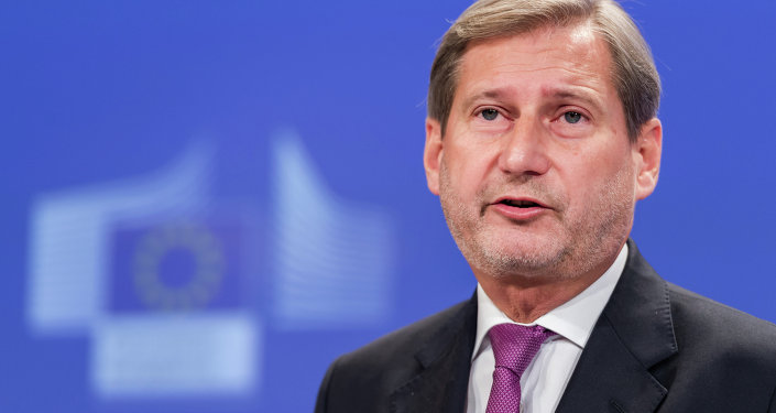 EU Commissioner for European Neighbourhood Policy & Enlargement Negotiations Johannes Hahn addresses the media on a recent visit to Ukraine, at the European Commission headquarters in Brussels, Monday, Dec. 1, 2014