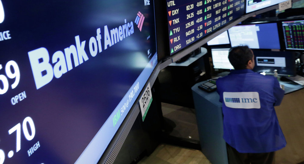 An IMC specialist works at his post where Bank of America is traded on the floor of the New York Stock Exchange Thursday, Aug. 21, 2014