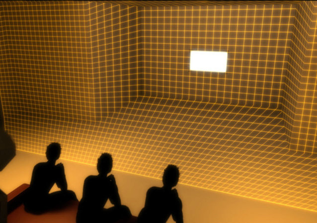 A new device aims to make virtual reality more social by projecting the artificial atop the real.