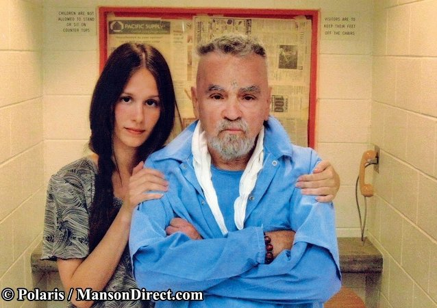 Afton Elaine Burton and her fiance, Charles Manson