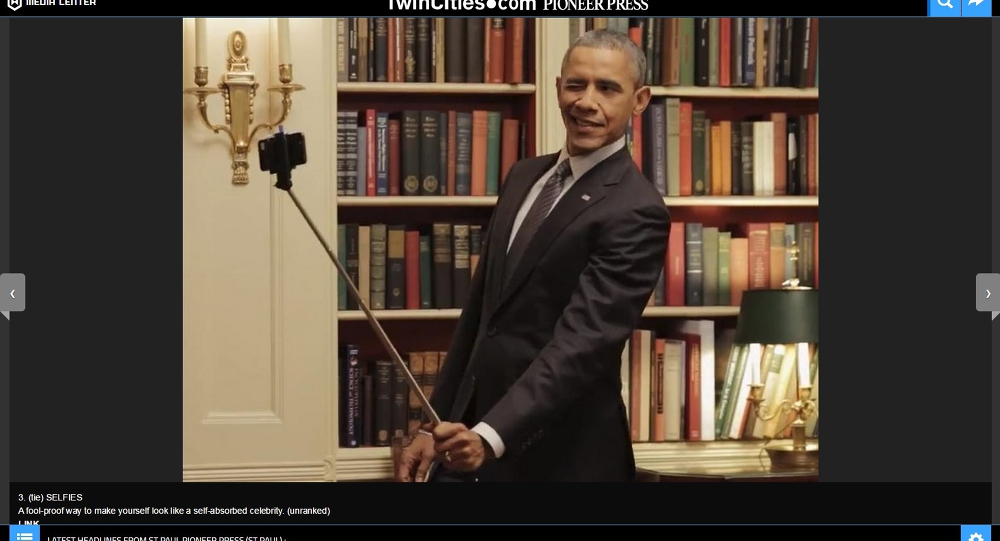 President Barack Obama used a selfie stick in a video promoting health insurance.