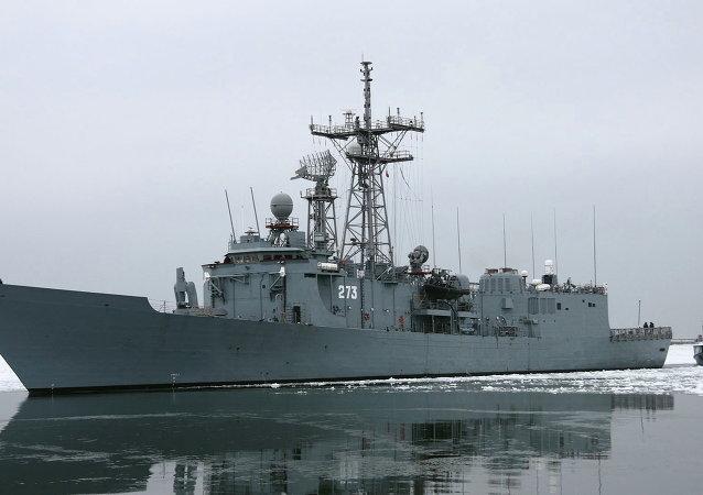 Missile frigate General Tadeusz Kościuszko. (File)