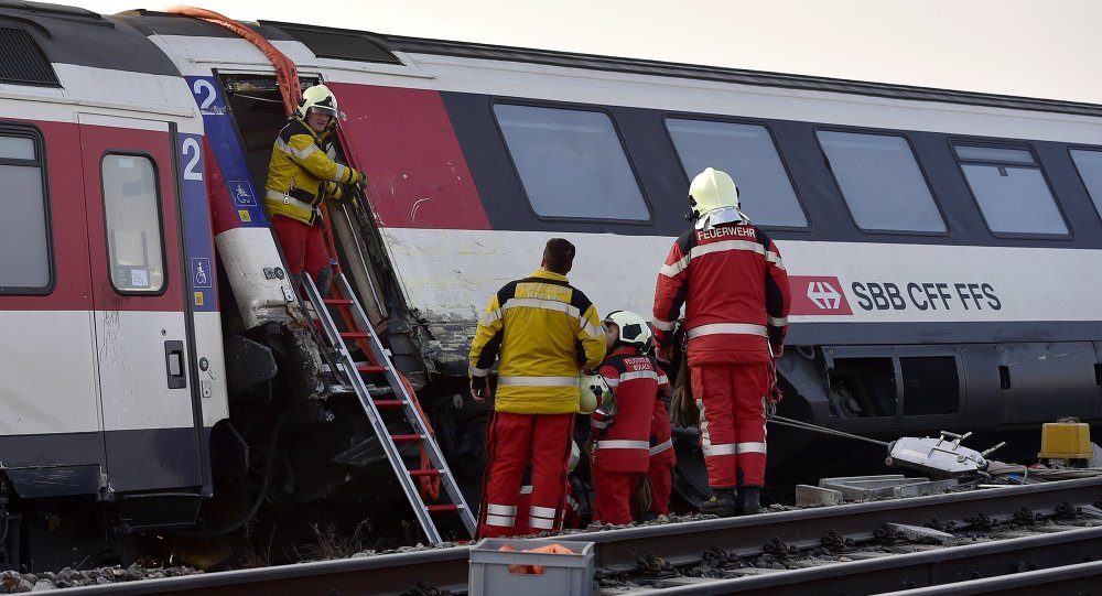 Several injured in Switzerland train collision