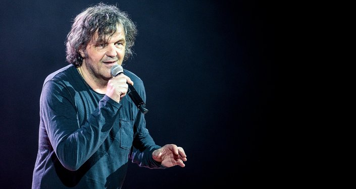 Yugoslav and Serbian film director Emir Kusturica in concert at the State Kremlin Palace