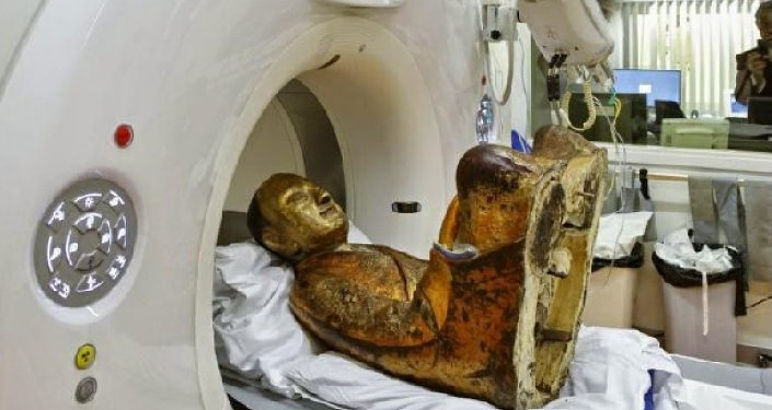 Scientists from Netherlands scanned a statue of Buddha dating back to the 11th or 12th century and revealed there is a mummified man concealed inside