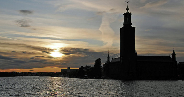 Stockholm City Hall at Blue Hour