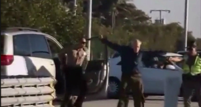 An elderly man was shocked by police on Sunday