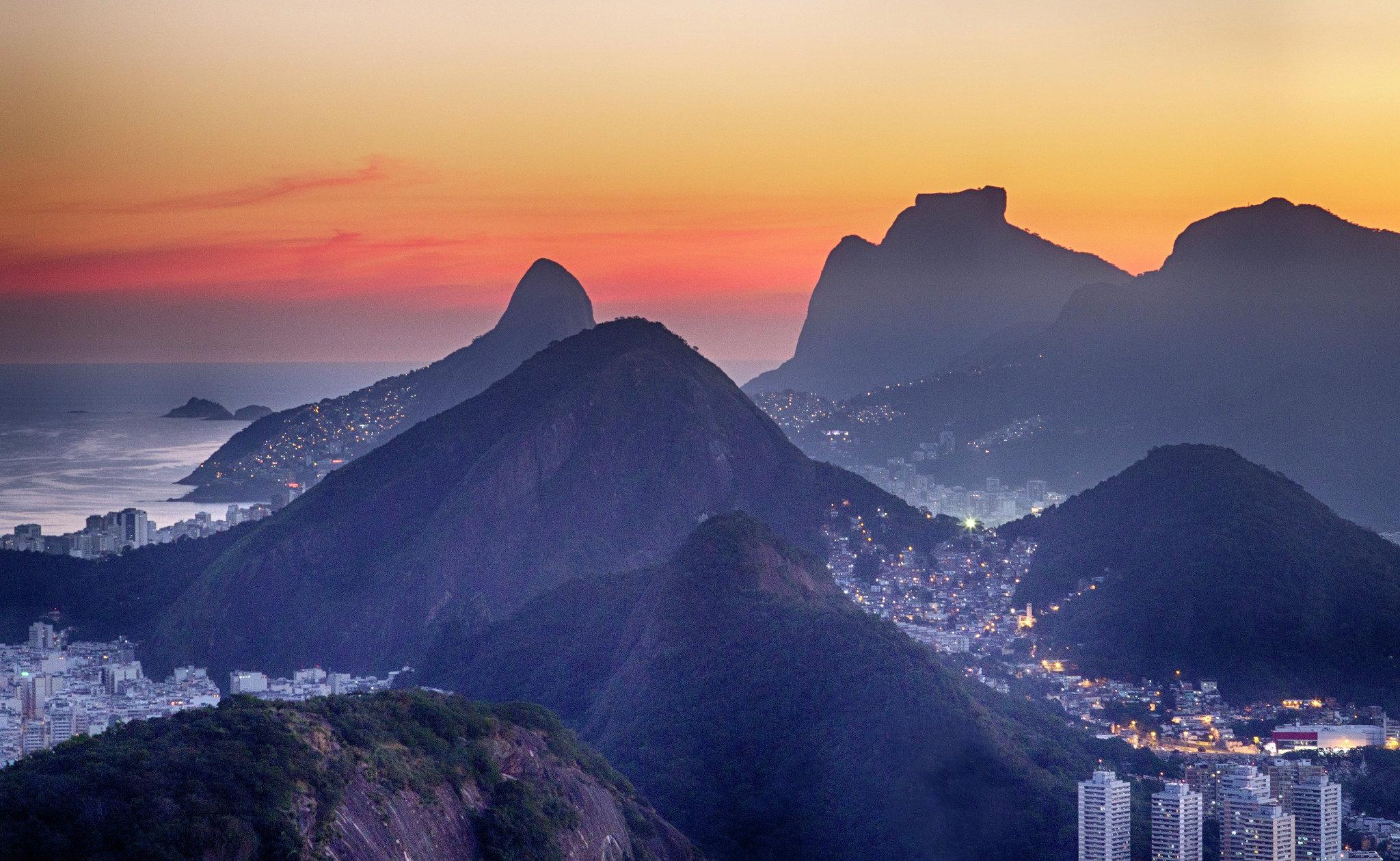 Rio at sunset.
