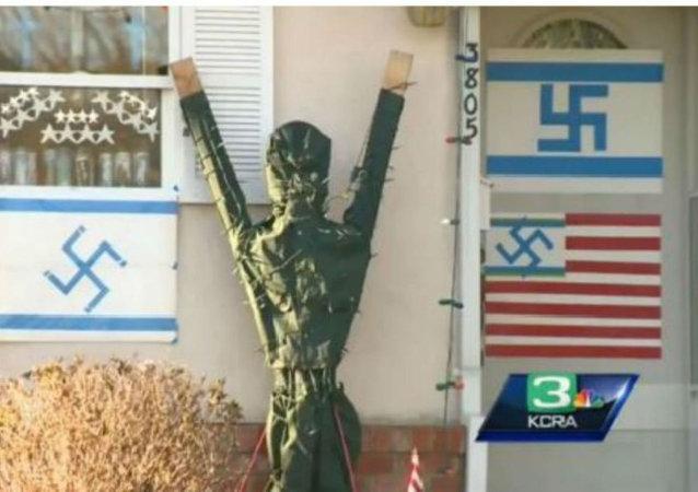 California Swastika Display