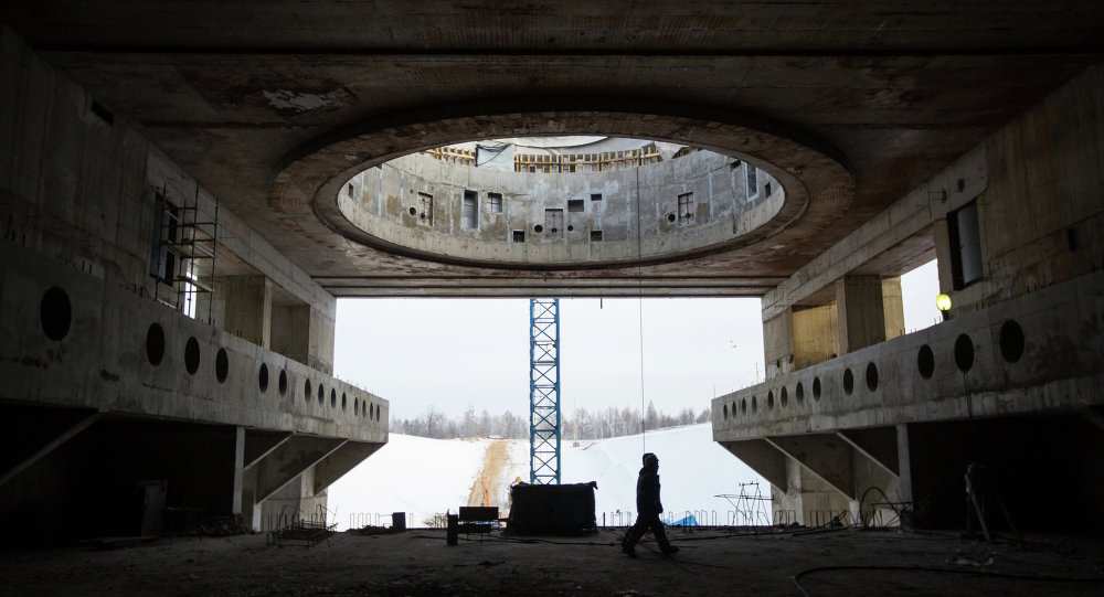 Vostochny space center's construction site