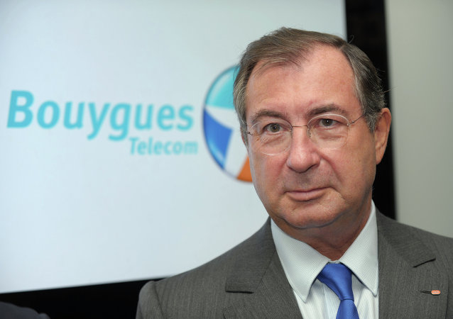 French construction and media conglomerate Bouygues' CEO, Martin Bouygues