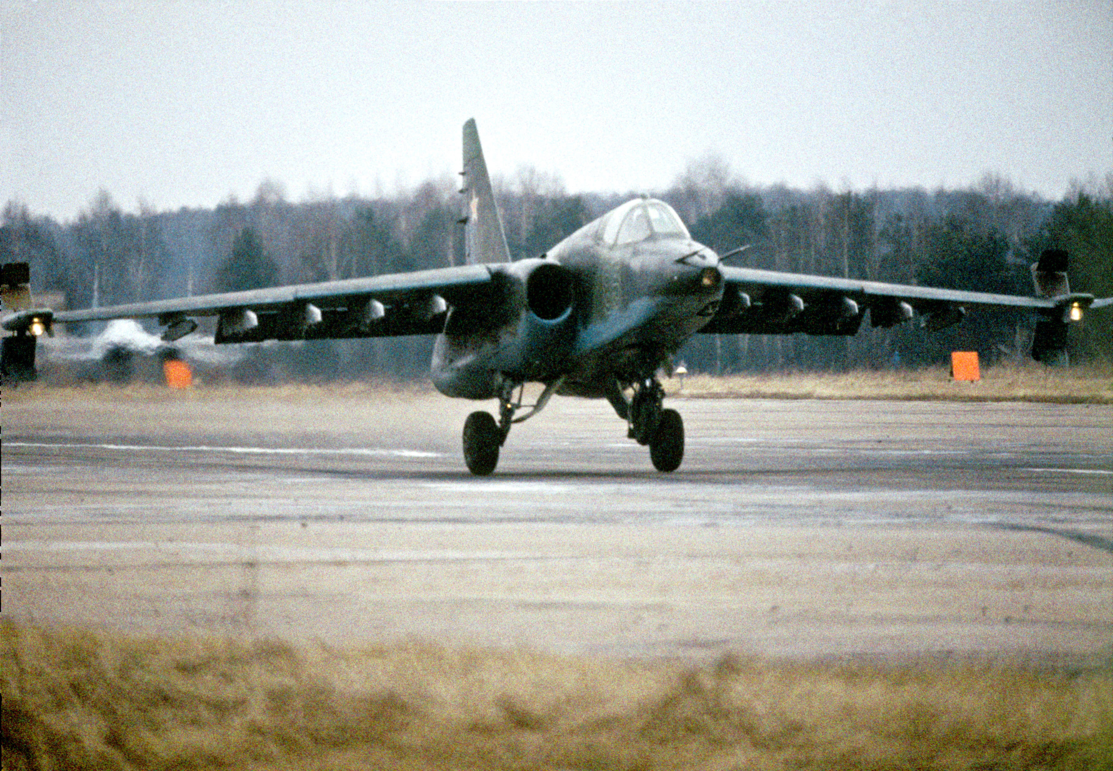 The SU-25, NATO classification Frogfoot, has the Russian nickname 'Rook' (Grach), after the majestic bird.
