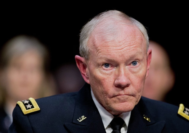 Joint Chiefs Chairman Gen. Martin Dempsey testifies on Capitol Hill in Washington, Tuesday, March 3, 2015, before the Senate Armed Services Committee