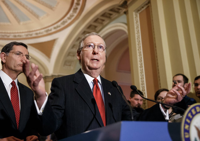 Senate Majority Leader Mitch McConnell at the Capitol in Washington, Tuesday, March 3, 2015