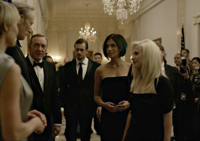 Pussy Riot members who began their career acting in graphic porn scenes have made it onto the popular US TV show House of Cards.