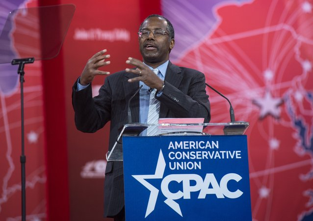 US conservative Ben Carson addresses the annual Conservative Political Action Conference (CPAC) at National Harbor, Maryland, outside Washington,DC on February 26, 2015
