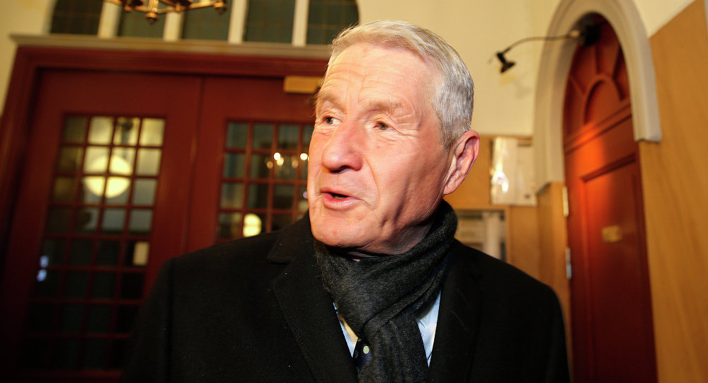 Thorbjoern Jagland, former chairman of the Norwegian Nobel Peace Prize Committee, arrives at the Nobel institute in Oslo, on March 3, 2015 for a meeting
