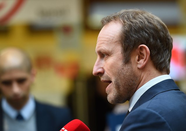 Danish Foreign Minister Martin Lidegaard gives an interview after attending a counter-Islamic States (IS) coalition ministerial meeting at the NATO headquarters in Brussels