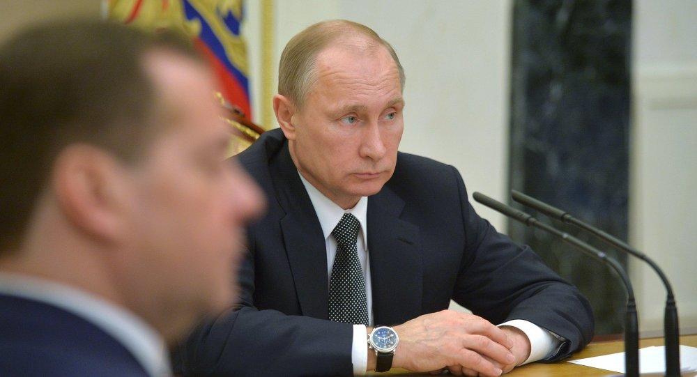Russian President Vladimir Putin holds meeting with Government members