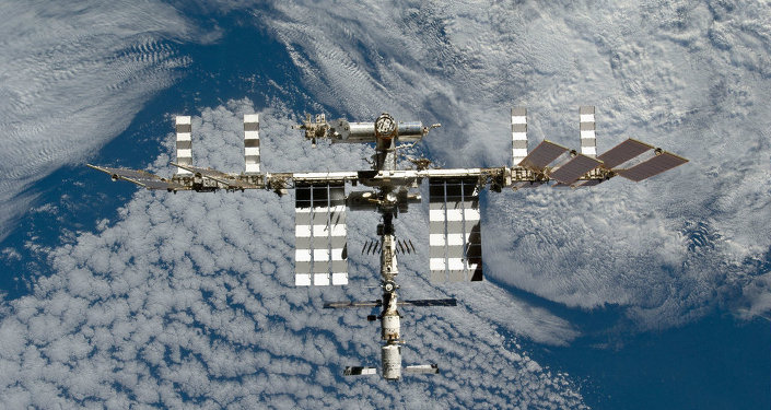 The International Space Station is featured in this image photographed by an STS-133 crew member on space shuttle Discovery after the station and shuttle began their post-undocking relative separation. Undocking of the two spacecraft occurred at 7 a.m. (EST) on March 7, 2011.