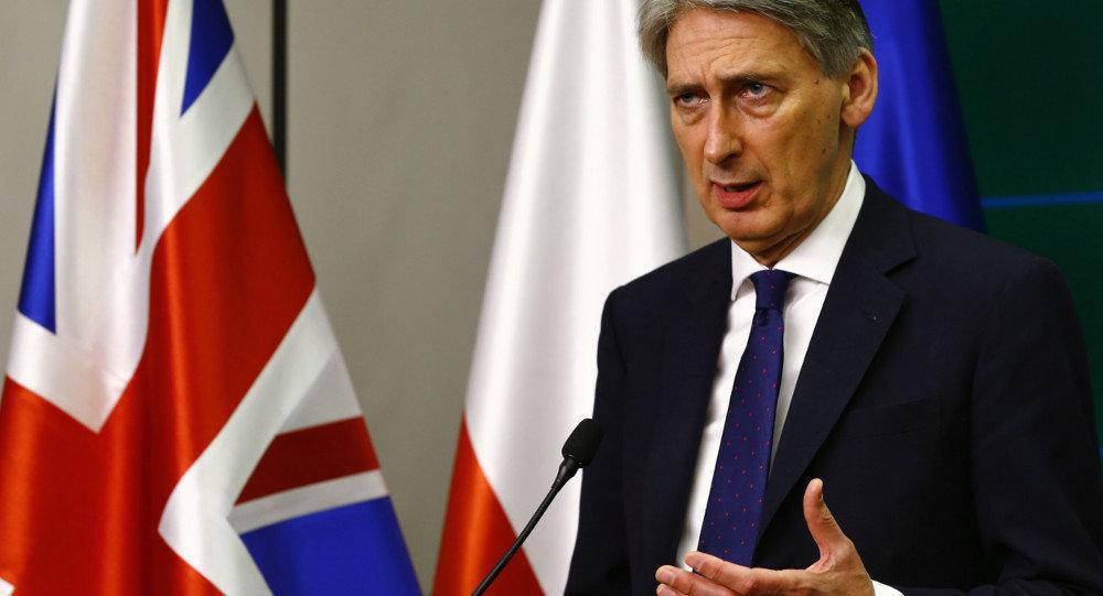 Britain's Foreign Secretary Philip Hammond