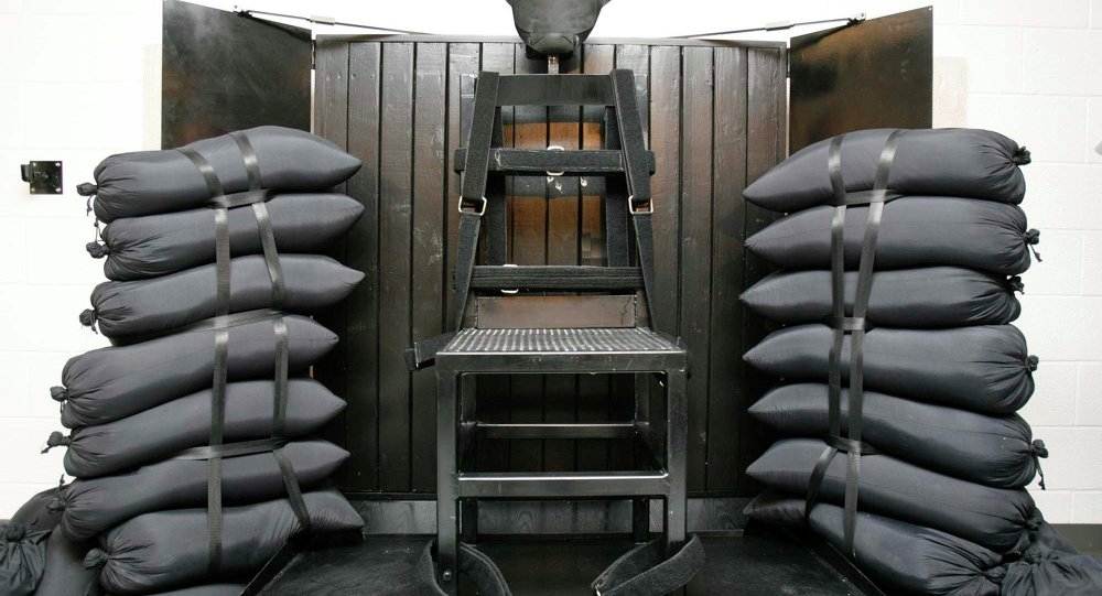 This file photo shows the firing squad execution chamber at the Utah State Prison in Draper, Utah. Utah's Gov. Gary Herbert has signed a bill to bring back the firing squad.