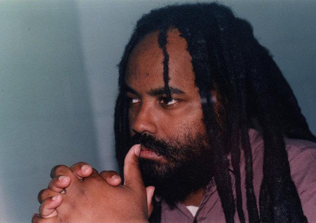 Mumia Abu-Jamal in prison in 1998