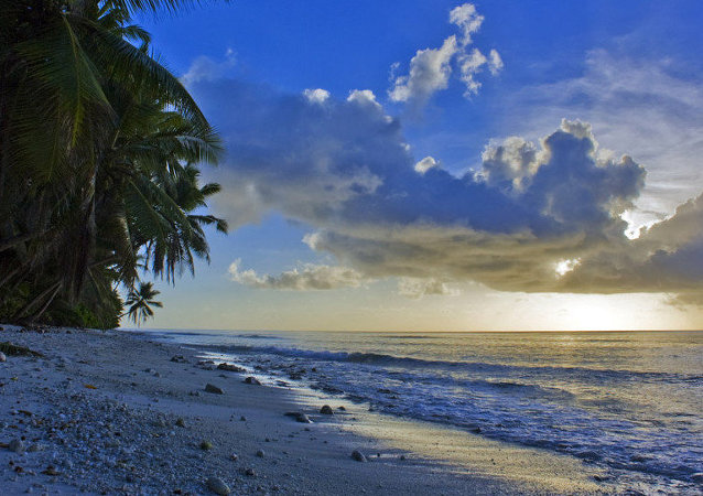 Sunet at canon point, Diego Garcia