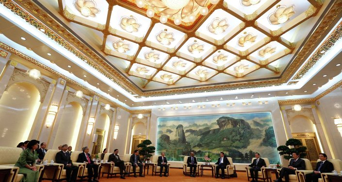 Asian Infrastructure Investment Bank (AIIB) launch ceremony at the Great Hall of the People in Beijing