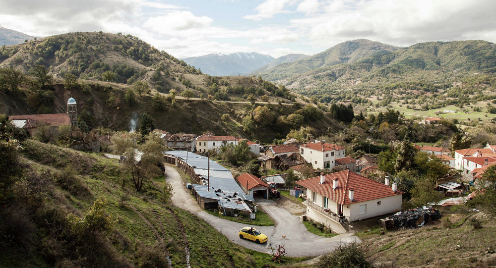 Antartiko village in Northern Greece, near the Greek-Macedonian and the Greek Albanian boarders
