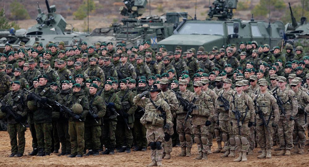 US and Lithuanian troops take part in a NATO military exercise 38 miles north of the capital of Lithuania. File photo.