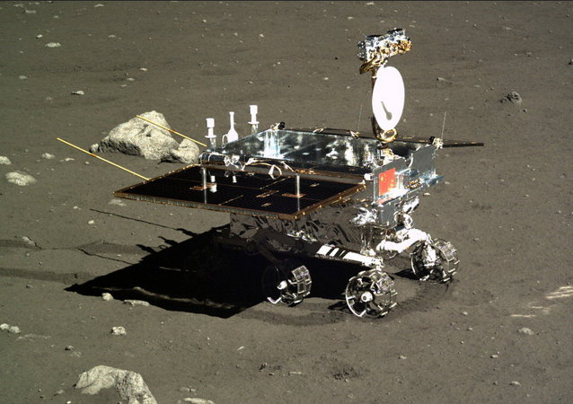 China's Yutu moon rover, photographed by the Chang'e 3 lander on Dec. 16, 2013.