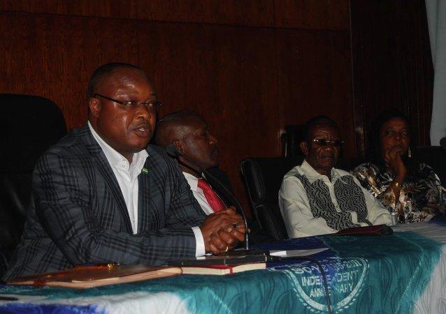 Vice President of West Africa's Sierra Leone Samuel Sam-Sumana