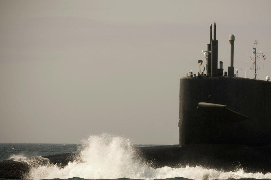 The Ohio-class USS Tennessee off the Florida coast.