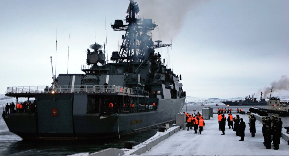 The Admiral Levchenko anti-submarine warfare ship. (File)