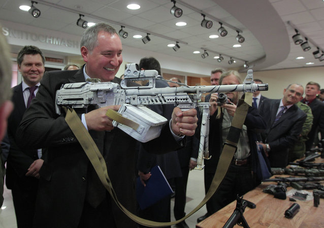 Dmitry Rogozin examines new combat gear