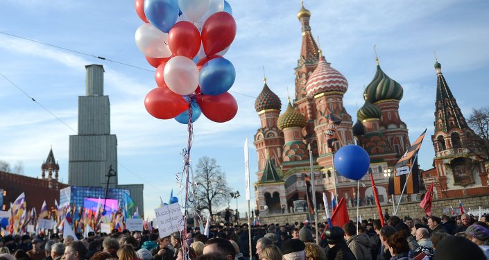 Rally and concert on Vasilyevsky Slope to mark anniversary of Crimea's reunification with Russia